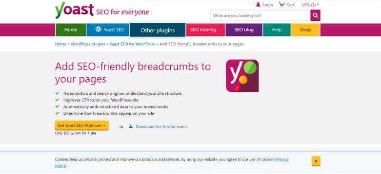 Yoast SEO Breadcrumbs