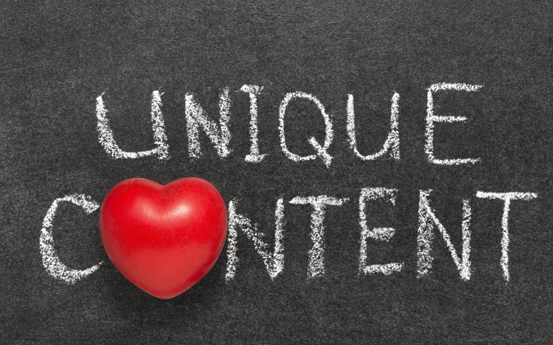 How To Create Unique Content For Your Website